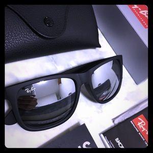 New Ray-Ban Justin rb4165 Silver Flash Sunglasses